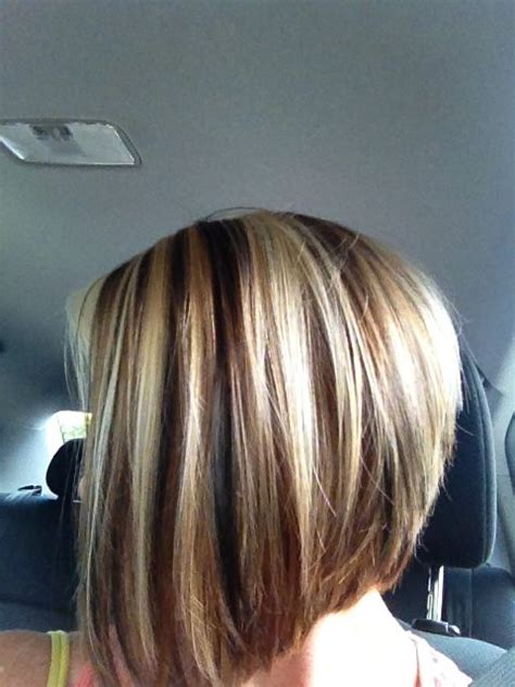short hairstyles light brown with blond highlights brown lowlights and blonde highlights bob short