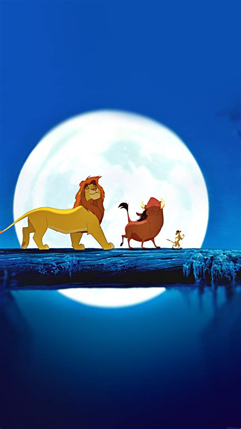 wallpaper disney hd iphone ak89 lionking hakuna matata simba disney art papers co