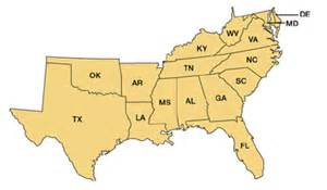 us map southern states southern regional education board