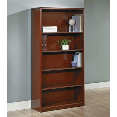 5 shelf bookcase 70 inch cherry wood