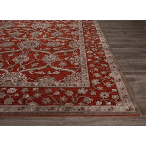 Jaipurliving Fables Red Gray Area Rug Wayfair Gray Area Rugs