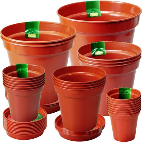 20 Inch Flower Pots 3 4 5 6 7 8 Inch Rigid Terracotta Colour Plastic