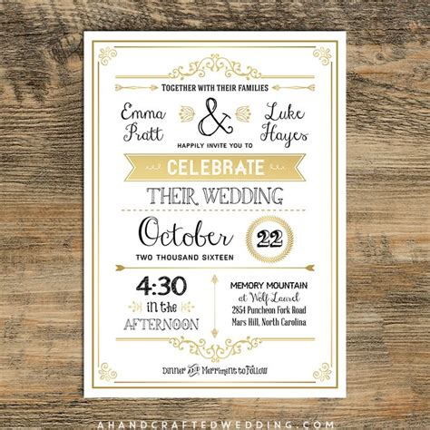 Golden Wedding Invitation Templates by 1000 Ideas About Invitation Templates On