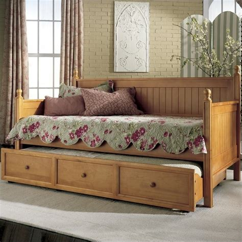 Mattress For Daybed Wood Daybed In Honey Maple B5xc53