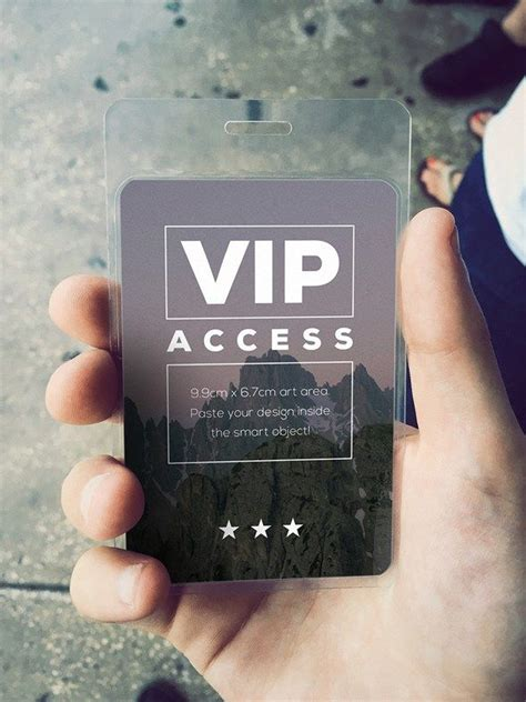 Vip Pass Card Template by Free Vip Event Pass Mockup Psd Free Pass Security