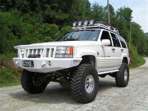 huge jeep wrangler custom white jeep zj monster cherokee huge spec built jeep