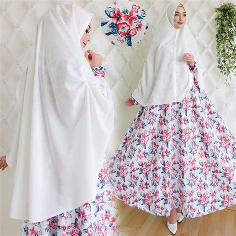 Jubah Katun Jepang Wanita baju gamis putih
