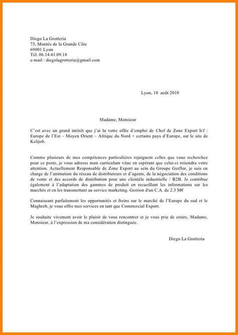 Lettre De Motivation Francais Vendeuse 4 lettre de motivation francais cv vendeuse