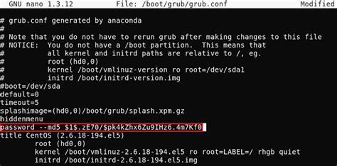reset windows password grub how to set change grub boot loader password in redhat