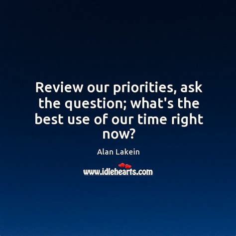 whats the question review our priorities ask the question what s the best