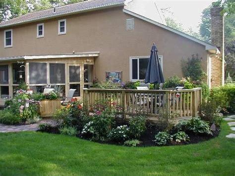 landscape deck patio designer 25 best ideas about landscaping around deck on