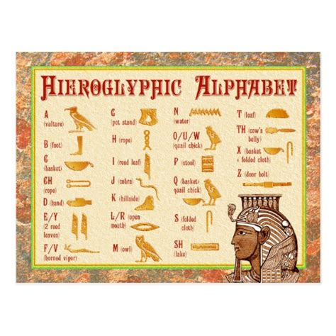 printable hieroglyphic alphabet chart hieroglyphic alphabet new calendar template site