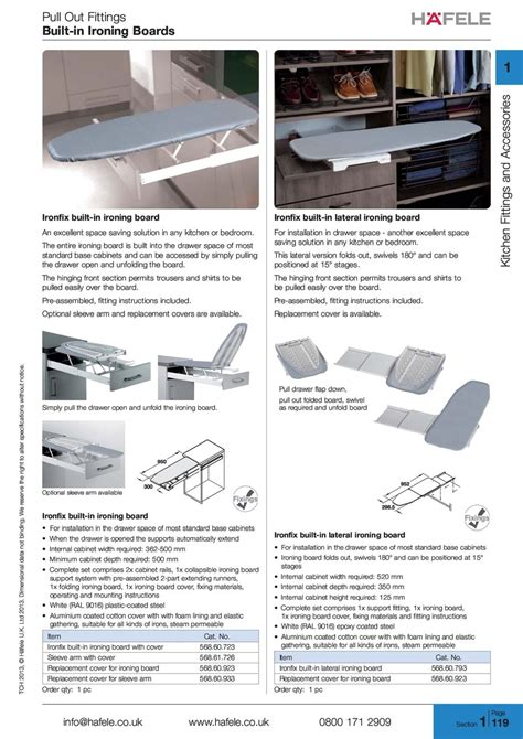ironing board drawer hafele ironing boards ironfix