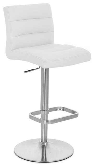 white counter height bar stools white lush adjustable height bar stool contemporary bar