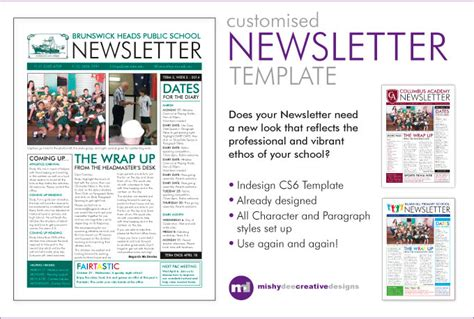 Customise A Newsletter Template In Indesign Fiverr One Page Newsletter Template