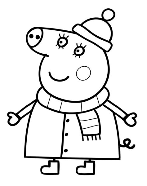 christmas colouring pages peppa pig pin by g 233 orgina kincaid on coloriage p 233 ppa pig pinterest