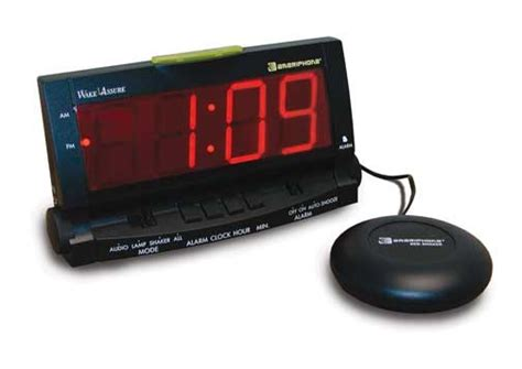 bed shaker alarm ameriphone clarity wake assure alarm clock with bed shaker