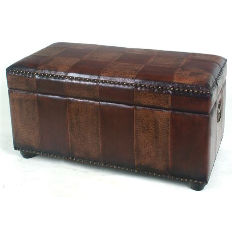 Bench Trunks Faux Leather Bench Trunk With Lid By International Caravan