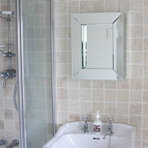 Designer Mirrors For Bathrooms All Glass Bathroom Mirror By Decorative Mirrors