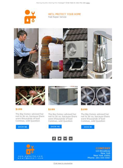 free newsletter template plumbing hvac home