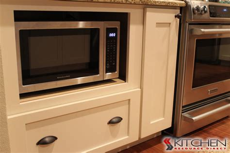 kitchen cabinet microwave microwave in base cabinet transitional kitchen ta
