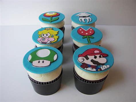 Handmade Cupcake Toppers - custom mario cupcake toppers and cookies gadgetsin