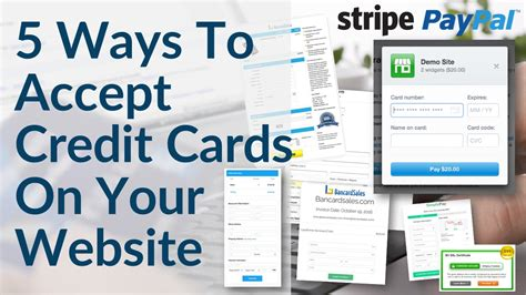 best way to make credit card payments accept credit card payments on your website 5 ways