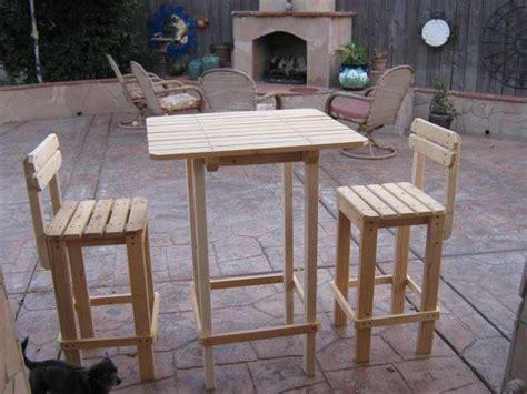 diy plans   bar table  stool set outdoor