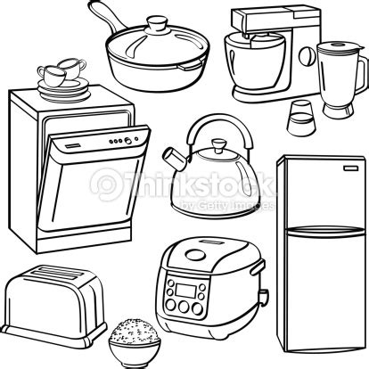 toy kitchen coloring page kitchen utensils and appliances vector art thinkstock