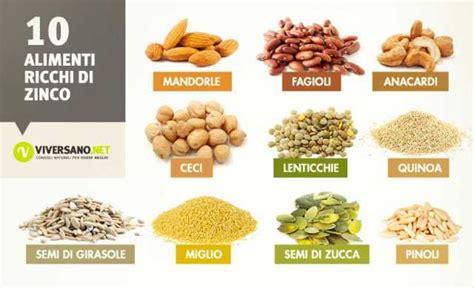 alimenti senza fibre alimenti ricchi di zinco quali sono ecco 10 alimenti con