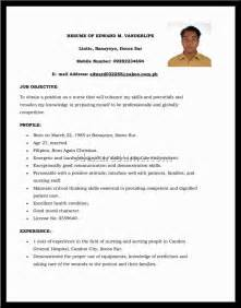 best sle of resume for application