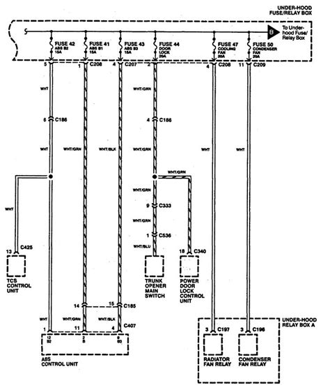 acura legend 1994 wiring diagrams power distribution