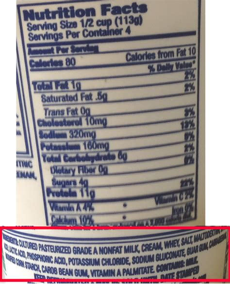 ingredients in cottage cheese nutrition in cottage cheese 28 images calories low