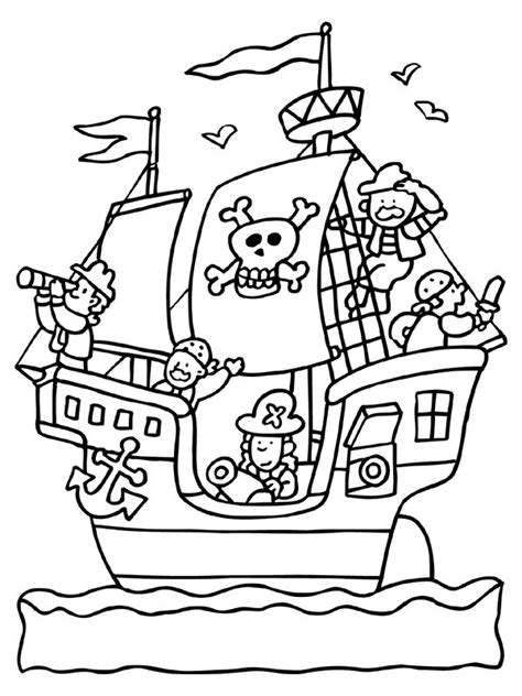 free coloring pages of pirate theme