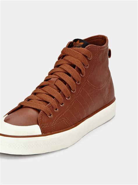 basketball mens shoes adidas adidas nizza classic 78 hi leather mens basketball
