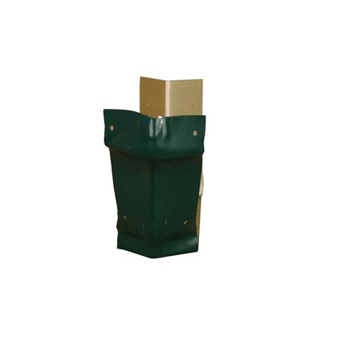 amerimax home products 6 in grecian green aluminum