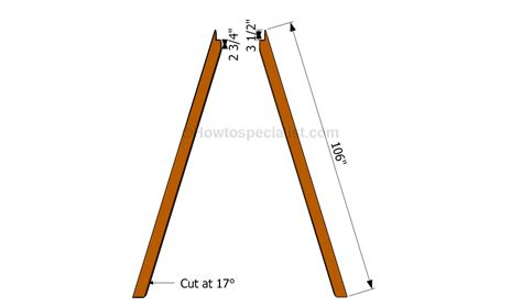 how to build a sex swing stand how to build an a frame swing howtospecialist how to