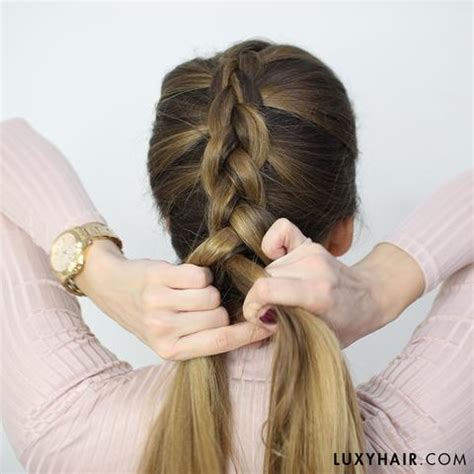 different braid step by step how to do a dutch braid hair tutorial for beginners