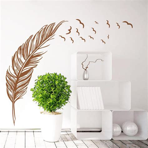 Sticker Wallpaper Flying Feather sticker wallpaper flying feather black jakartanotebook