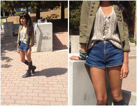 sneha bee goodwill high waisted shorts h m jacket target knee high socks shiekh
