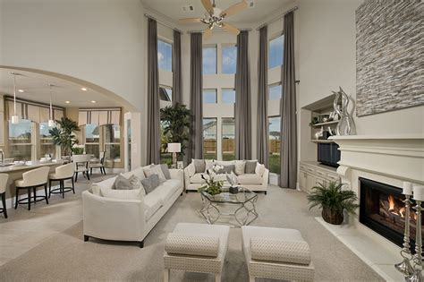 the living room westin westin homes bridgeland new homes houston the living room fireplace open