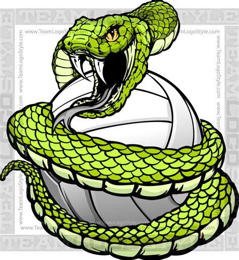 design pattern viper volleyball viper logo vector clipart snake