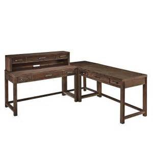 home styles corner l shaped desk in aged barnside 5516