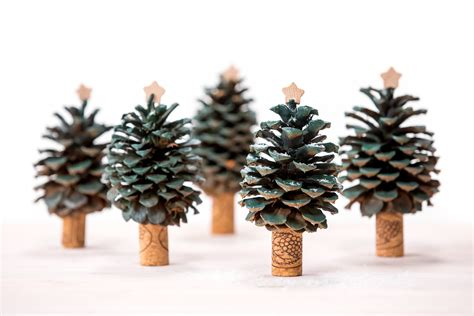 christmas ornaments bronze pinecones pinecone trees a forest of decor thanksgiving