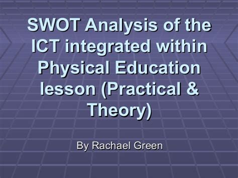 the education of a lessons learned from 33 years in the trenches books swo tanalysis ict intergated within physical education lessons