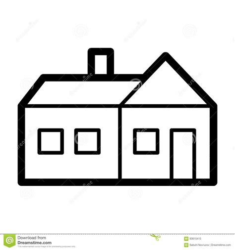 white house real estate house simple vector icon black and white illustration of real estate outline linear