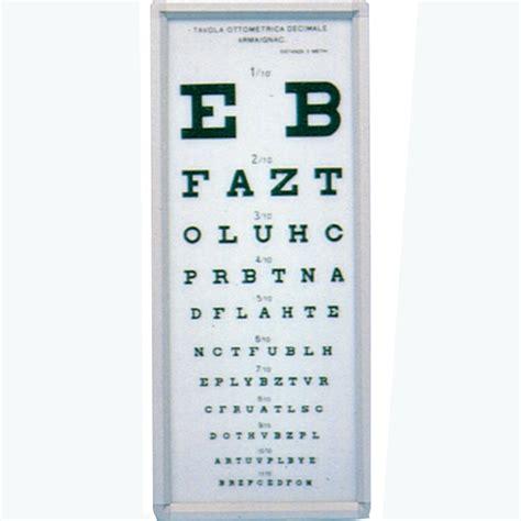 tavole optometriche ottotipo luminoso tavola ottometrica armagnac 5 metri