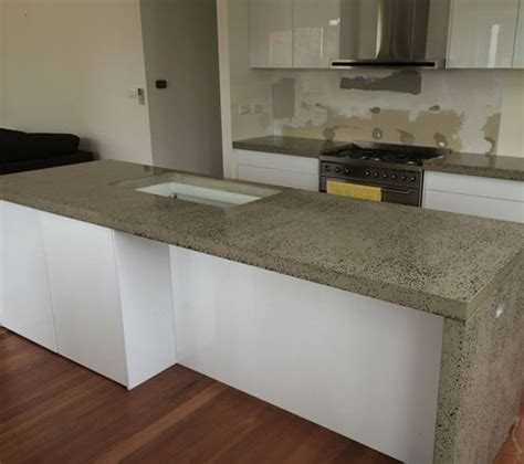 concrete bench tops polished concrete benchtops floors concrete fx