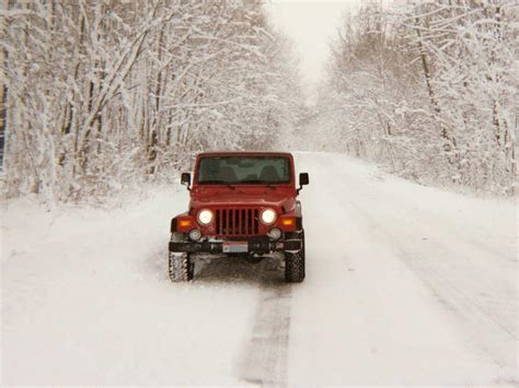 jeep snow jeep winter fun in the snow