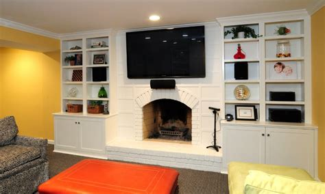 Family Room Cabinets by Cabinets Surround A Fireplace Traditional Family Room